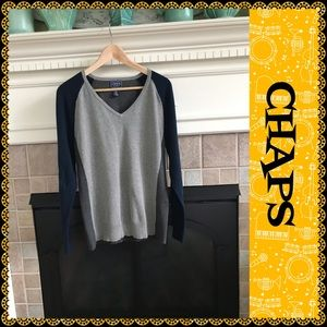 Chaps V-neck sweater, size XL